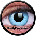 Solar Blue Crazy Contact Lenses Pair - PimpMyEyes.com.au