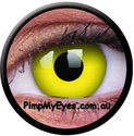 Yellow Crazy Contact Lenses Pair - PimpMyEyes.com.au