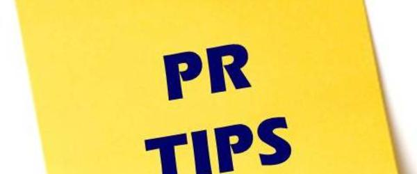 Headline for 10 tips to good PR