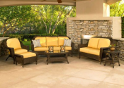 Augusta 6 PC Seating Group.- Chicago Wicker-Outdoor Living-Patio Furniture-Casual Seating Sets