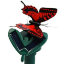 Solar Butterfly Red Swallowtail Flying Fluttering Powered by Sun