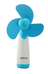 Intsun Handheld Portable Battery Operated Cooling Mini Fan Electric Personal Fans for Home and Travel (blue)