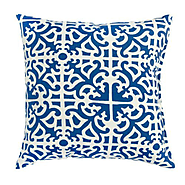 Outdoor Accent Pillows, Set of Two, Indigo- Greendale Home Fashions-Outdoor Living-Patio Furniture-Specialty Accessories