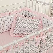 Pink and Grey Chevron Nursery Decor Ideas for a Baby Girl