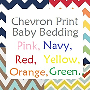 Chevron Print Baby Bedding for a Boy or Girl