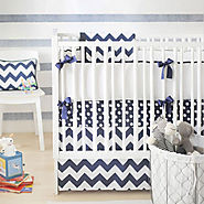 Best Chevron Print Baby Bedding-Pink-Gray-Navy & More