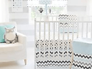 Chevron Print Baby Bedding on Pinterest
