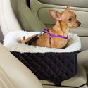 Snoozer Pet Booster Car Seat w/ Cream Fur Lining