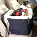 Small And Large Dog Booster Seat W/ Faux Sheepskin Lining