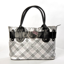 Hello Kitty Plaids Checkered Pattern Tote Handbag Purse