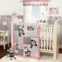 Pinkie 4 Piece Baby Crib Bedding Set with Bumper by Lambs & Ivy