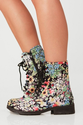 Best Floral Combat Boots for Women 2014
