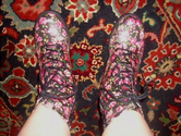 Fashion trend: floral combat boots