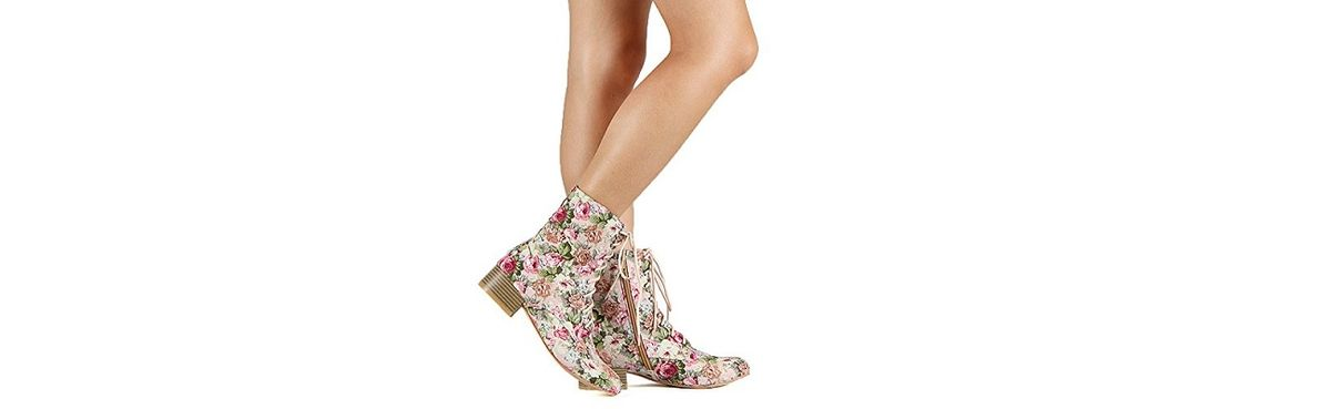 Headline for Floral Print Combat Boots for Women 2015