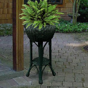Hunter Green Wicker Planter will hold 10 inches Pot- Avalon-Outdoor Living-Outdoor Decor-Planters