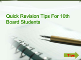 Quick revision tips for 10th board students
