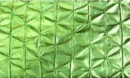 Iridescent Belly Button Taffeta Table Runner. Lime Green
