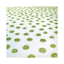 Glitter Polka Dots on Organza Lime Green Table Runner