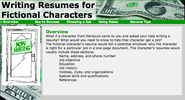ReadWriteThink: Student Materials: Writing Resumes for Fictional Characters