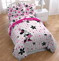 Disney Minnie Mouse Full Size 5 Piece Bedding Set ~ Comforter with a Full Sheet Set