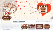 Facebook Content Strategy and Page Review: Dreyer's Singapore