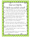 Helping your child be successful