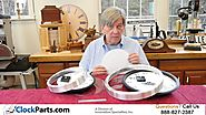 Clock Kits with a Metal Frame for Great Looking Wall Clocks