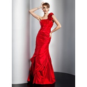 [US$ 146.99] Mermaid One-Shoulder Floor-Length Taffeta Prom Dress With Ruffle Beading (018014775)