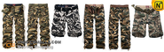 True Man's Choice – Camo Cargo Pants, Shorts, Denim Shirt