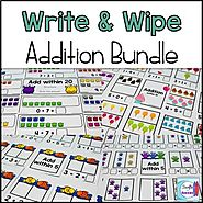 Addition Write and Wipe Bundle by Mercedes Hutchens | TpT