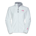 Womens North Face Pink Ribbon Osito Jacket TNF White