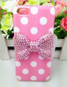 Lovely Cute 3D Bling Special Party Dot Pattern Case Cover For Apple iPhone 5C