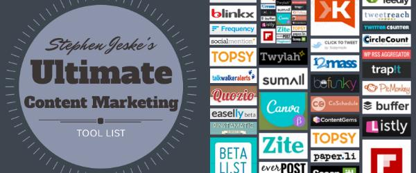 Headline for Ultimate Content Marketing Tool List
