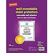 Staples Diamond Clear Wall-Mountable Display Protectors, Clear, Letter Size, 10\/Pack (15945) | Staples®