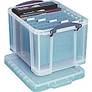 Really Useful Box® 32 Liter Box with Snap Down Handles, Assorted | Staples®