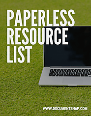 DocumentSnap: Going Paperless And The Paperless Office