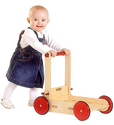 Moover Wooden Baby Walker with Shock Absorbing Rubber Wheels, in Natural