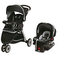 Graco FastAction Fold Sport Stroller Click Connect Travel System, Gotham (Discontinued by Manufacturer)