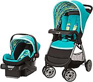 Safety 1st Amble Quad Travel System with Onboard 22 Infant Car Seat, Rainbow Ice
