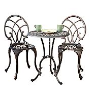 Andover Outdoor Copper Cast Aluminum Bistro 3-Piece Set