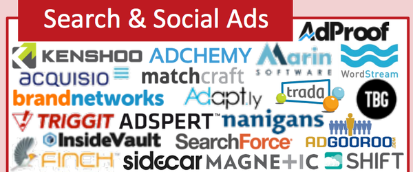Headline for 20+ Search Tools & Social Ads Plaforms