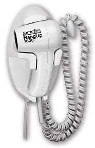 Andis 1600-Watt Quiet Wall Mounted HangUp Hair Dryer, White (30970)