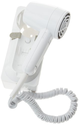ProVersa JWM6CF Wall Mount Hair Dryer with 2-Speed and 3-Heat Settings, 1600-Watts, White Finish