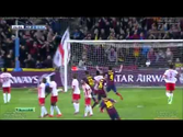 Leo Messi Amazing Free Kick Goal Barcelona vs Almeria 2-1 02-03-2014 HD