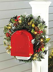 Carol Wright Gifts Lighted Mailbox Swag