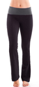 Ladies Color Block Rolled Waist Black Yoga Pants, Multiple Colors Available
