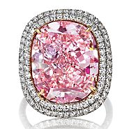 The Sweet Josephine, a cushion-shaped Fancy Vivid Pink diamond, 16.08 carats; Sold for $28,523,925 in 2015
