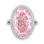The Pink Promise, an oval-shaped Fancy Vivid Pink diamond, 14.93 carats; Sold for $32,480,500 in 2017