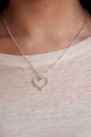 Layered Necklaces, Tiny Heart Necklace Silver, Small Charm Necklace, Delicate Short Necklace, Layering Necklace, Neck...