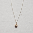 Layered Necklace, Dainty Necklace, Tiny Necklace, Heart Necklace, Minimalistic Necklace, Puff Heart Necklace, Layerin...